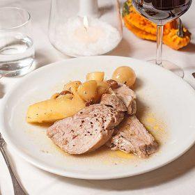 menu-secondo-carne-filetto-maiale-uva-mele-calvados